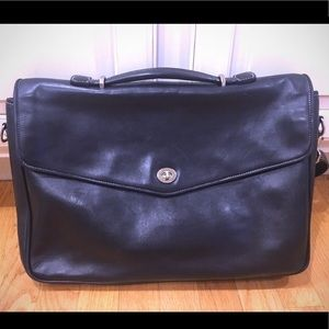 Coach Black Soft Leather Briefcase